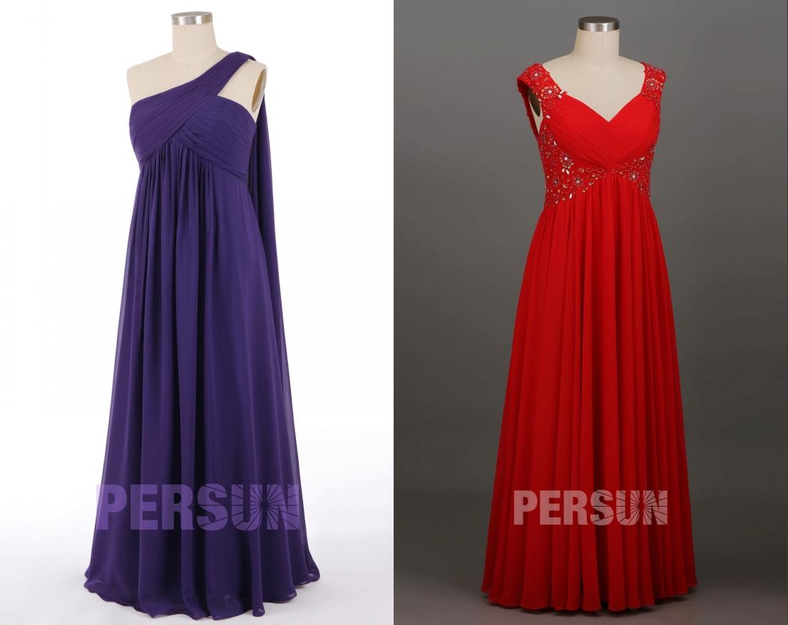robe de soirée longue plissé persun