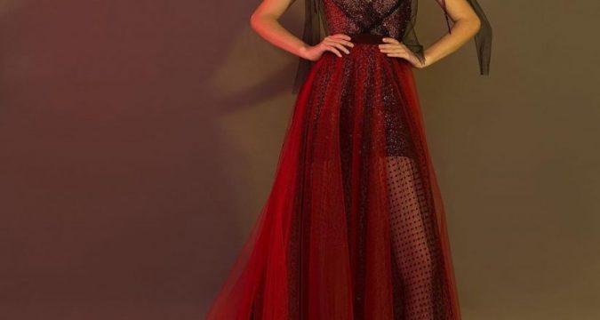robe de soirée longue sexy rouge