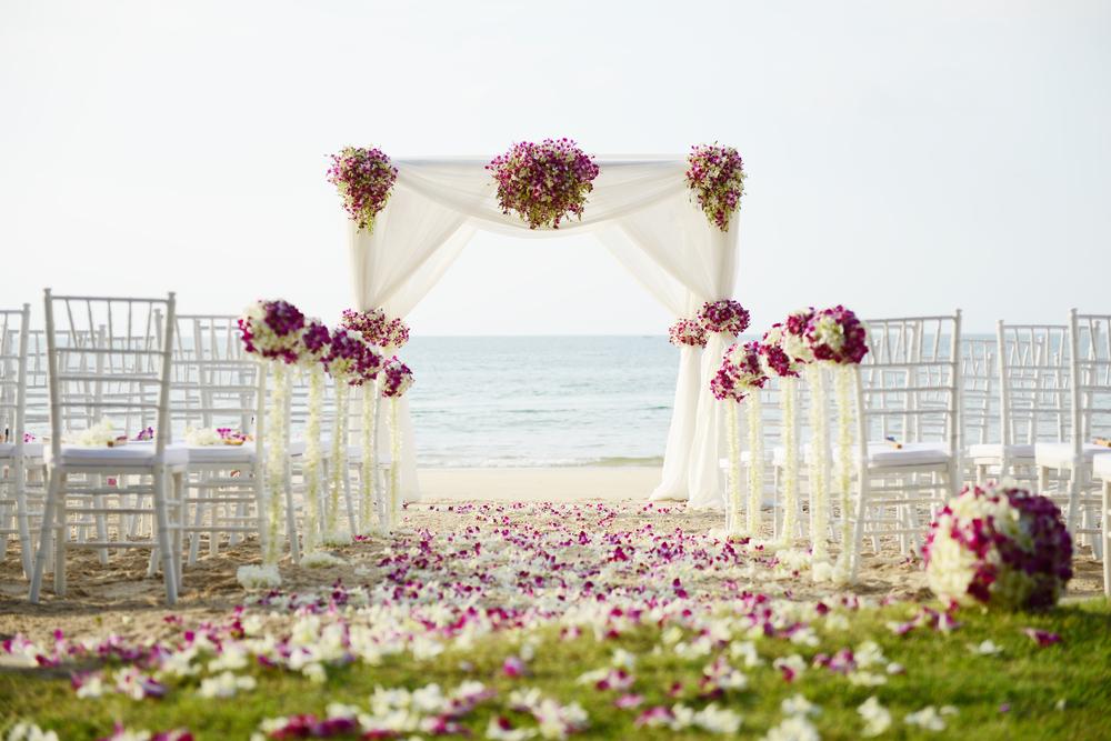 mariage en plein air à la plage