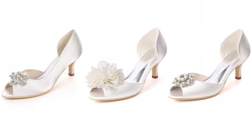 chaussure de mariée à petit talon